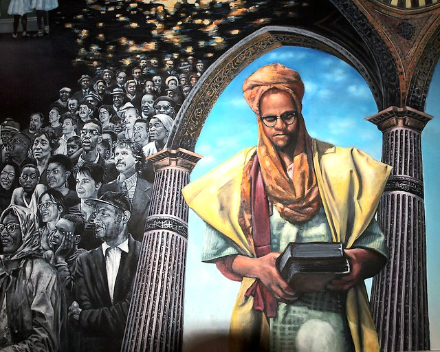 Homage to malcolm x mural shabazz memorial and for Malcolm x mural
