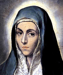 El Greco (1590), La Virgen María