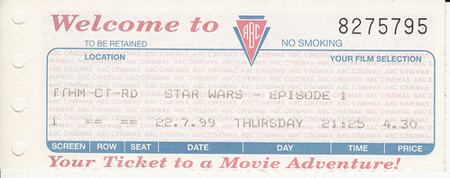 Movie Ticket Star Wars Episode 1