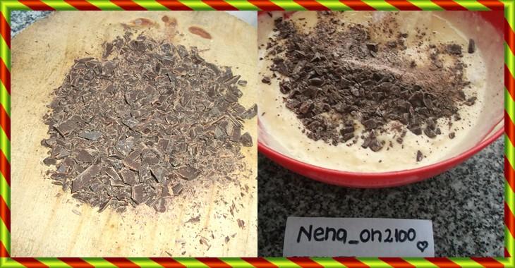 budin con chips de chocolate ( foto -receta)