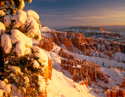 Brcye Snow Sunrise 2_Bryce Canyon NP, Utah