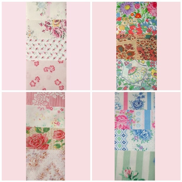 Vintage fabric scrapbags