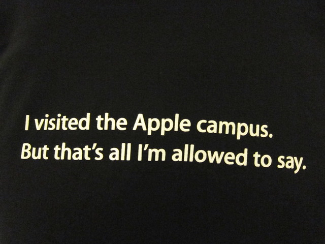 I visited the Apple campus, but that's all I'm allowed to say.