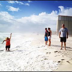 Fun family beach time