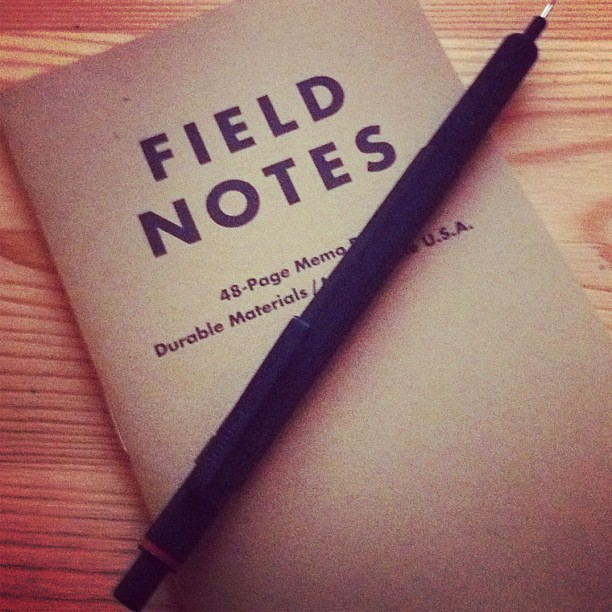 First ever Field Notes notebook. Better than Moleskine Cahiers?