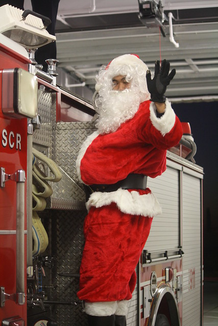 Santa Visits District One