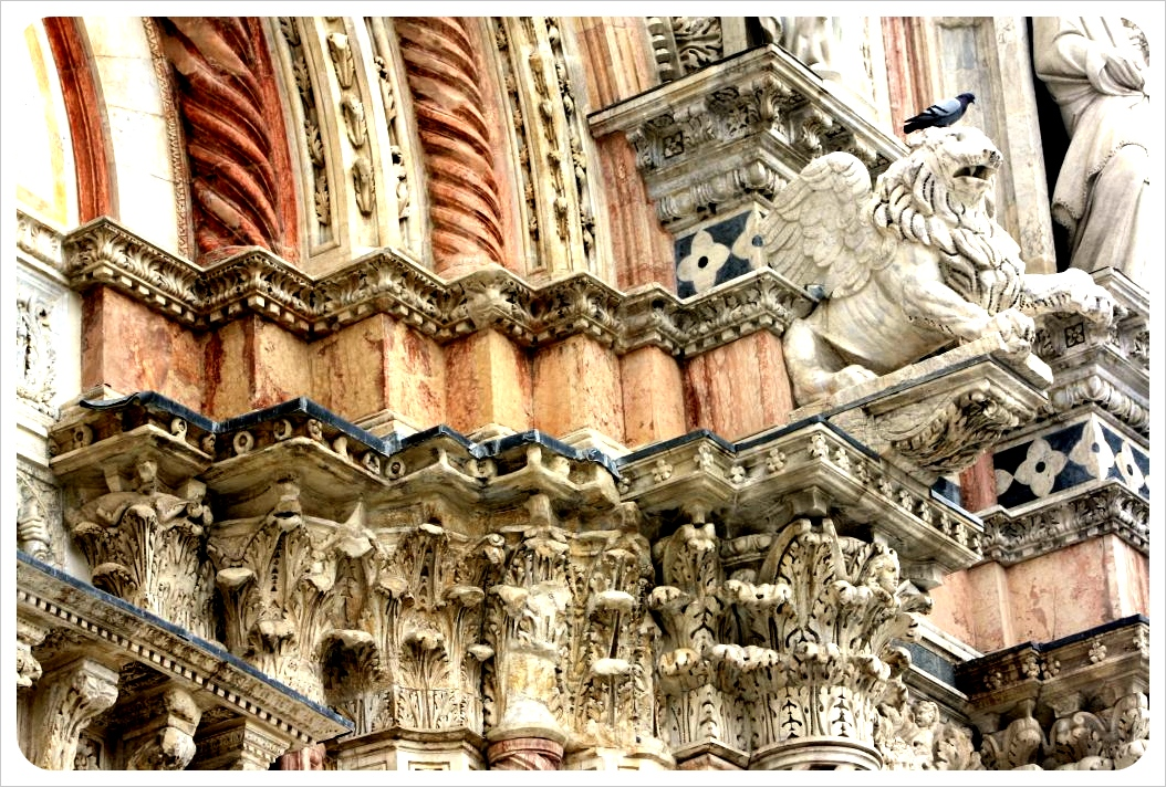 siena cathedral columns & lion