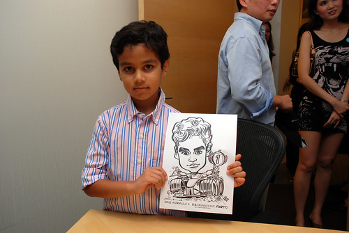caricature live sketching 2011 Formula 1 RR Donnelley Party - 12