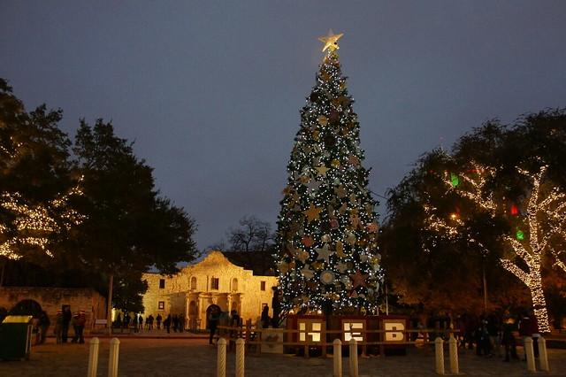 San Antonio Alamo Christmas Tree