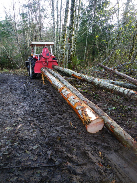 Tractor Logging with the Farmi winch