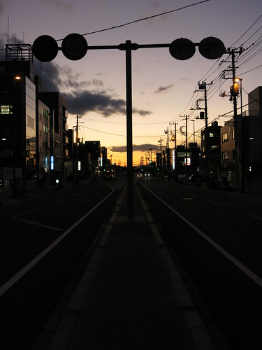 sunset city at omiya