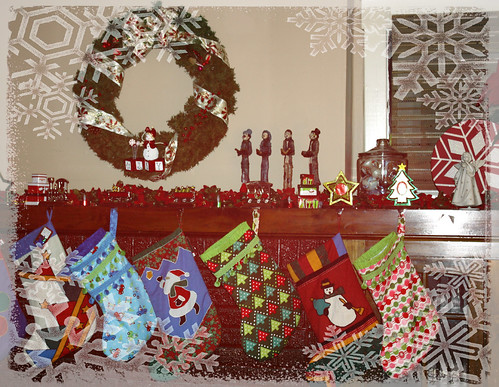 Stockings hung by the chimney with care... by E. Magee