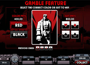 Hellboy gamble feature