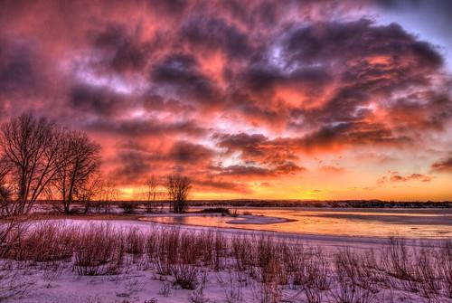 park winter lake snow ice beach nature clouds sunrise landscape colorado denver chatfield facebook littleton 201112