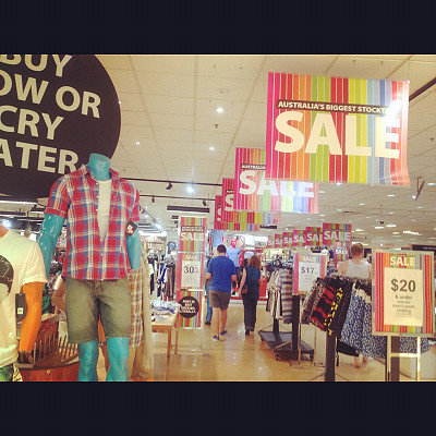 Boxing Day Sale in Myer