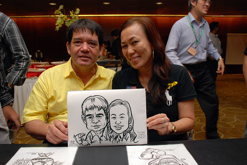 Caricature live sketching for SCORE – Yellow Ribbon Celebrating 2nd Chances 2011 - 9
