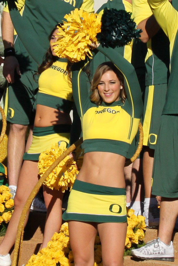 cheerleaders nude Oregon