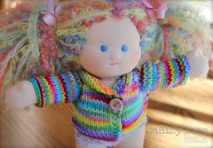 "Rainbow Sweater for 10"" Dolls"