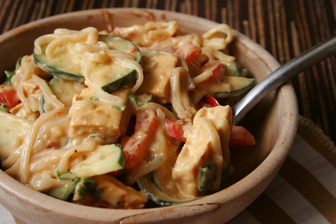 rice noodle peanut butter salad 5