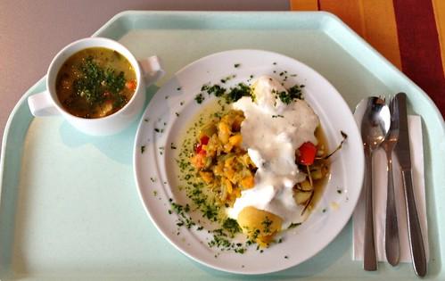 Kräuter-Ofengemüse & Hühner-Gemüse-Eintopf / oven-roasted vegetables & Chicken veg stew