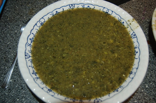 nettle and pea soup Jan 12 2