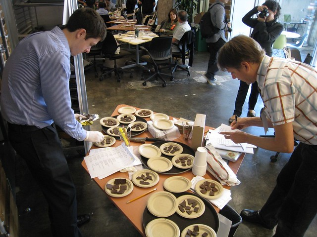 good food awards - chocolate judging