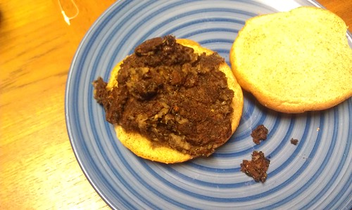 Black bean...burger? by 39bb532785ea476bc18629a51d9e3040