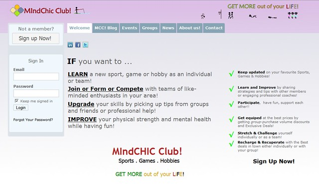 MIndChic Club! v1.0 Welcome Page
