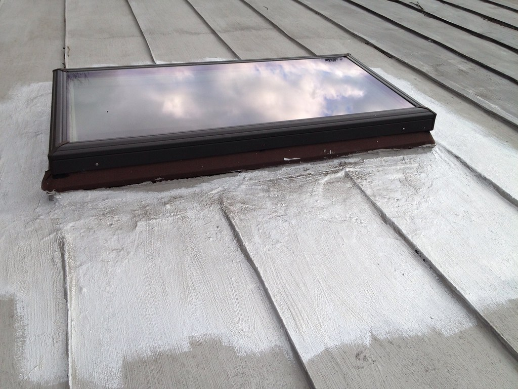 Since I Had Only Used A Portion Of The Paint Around The Skylight I Went  Around The Roof Finding Any Spots That Looked Like They Needed A Little  Touch Up Or ...