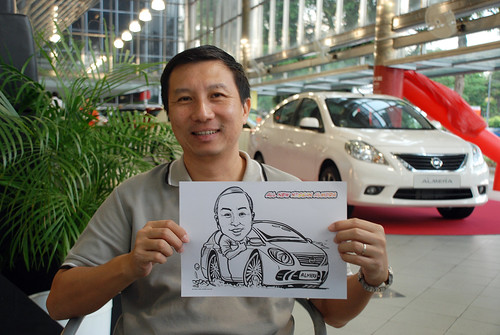 Caricature live sketching for Tan Chong Nissan Almera Soft Launch - Day 1 - 52
