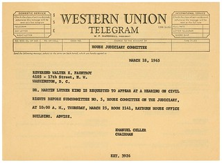 Telegram to Martin Luther King, Jr. on Voting Rights Act of 1965, 03/18/1965
