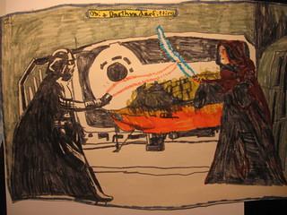 Star Wars - Obi & Darth Vader fitting by Terence 1980ish?