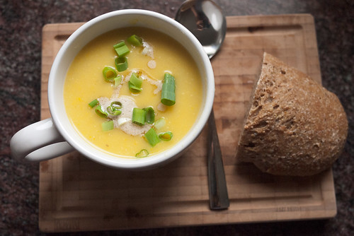 Buttermilk Summer Squash Soup with Cumin Brown Butter