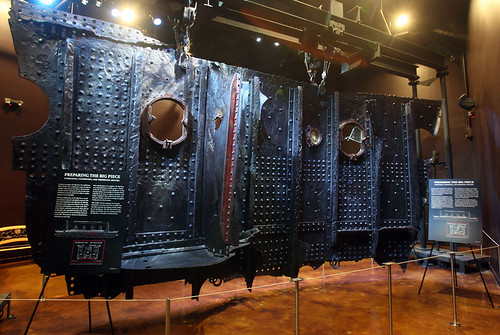 Titanic hull exhibit