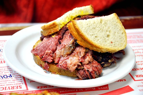 Medium Fat smoked meat sandwich from Schwartz's