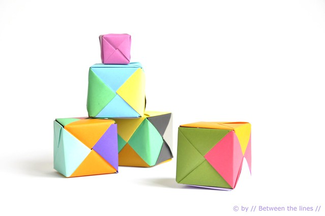 // Between the lines //: Origami paper cube :: a DIY - photo#15