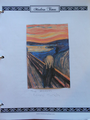 Art notebook pages - Expressionism example