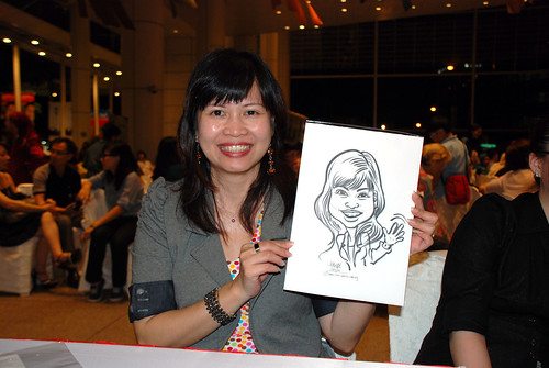 caricature live sketching for kidsREAD Volunteer Appreciation Day 2011 - 13
