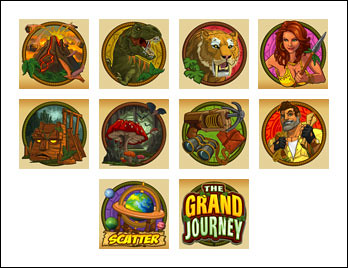 free The Grand Journey slot game symbols