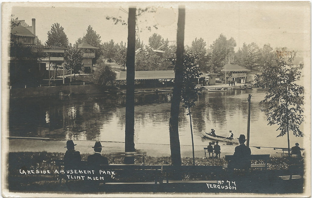 Se Flint Mi Rppc Lakeside Amusement Park Originally Peers Flickr