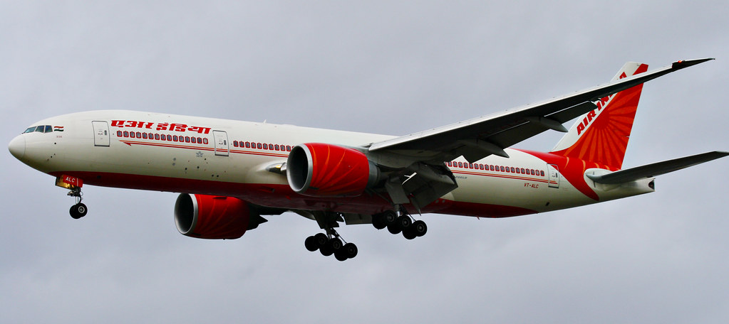 Air India Flight Inside Air India 777-200 From