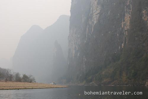 from the bamboo raft on the Li River, Yangshuo, Guangxi