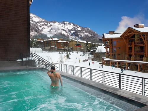 Hotel Terra Jackson Hole infinity hot tub