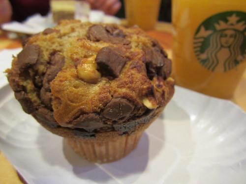 Muffin noisettes chocolat du Starbucks