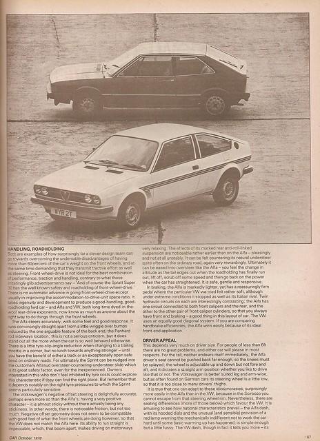 Alfa Romeo Alfasud Sprint 1.5 & Volkswagen Scirocco GLS 1978 (4 ...