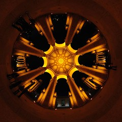 Obligatory stereographic projection of Palace of Fine Arts Rotunda