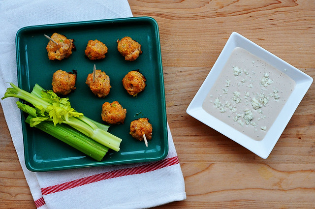 buffalo chicken meatballs 4