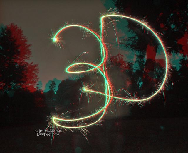 3D sparkler