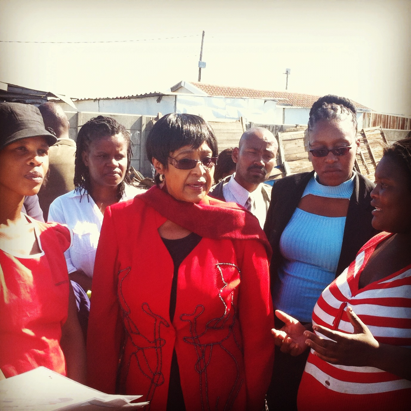 Winnie Mandela visits Sheffield Road, Cape Town