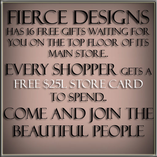 FIERCE DESIGNS 16 FREE GIFTS